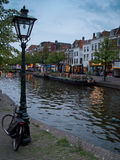 Leiden canal Stock Image