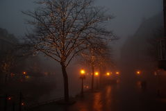 Leiden in de mist Royalty-vrije Stock Afbeelding