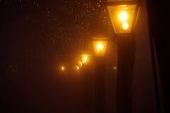 Leiden in de mist Stock Afbeeldingen