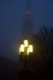 Leiden in de mist Stock Afbeelding