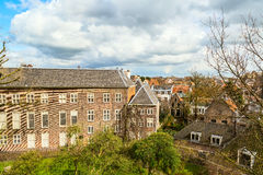 Leiden Holland, flyg- sikt Royaltyfri Foto