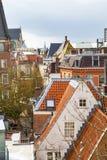 Leiden Holland, flyg- sikt med tak Arkivbilder