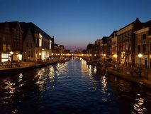 Leiden in the night Stock Images