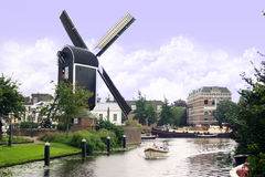 Leiden Inhouse City Windmill Stock Photography