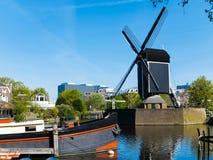 Leiden Inhouse City Windmill Stock Photo