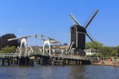 Leiden Inhouse City Windmill Stock Photo