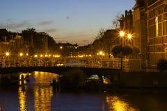 Leiden kanaler Arkivbild