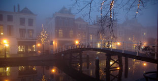 Leiden in the mist Royalty Free Stock Photo