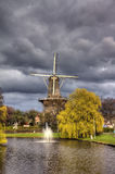 Leiden, molen ?DE valk? Royalty-vrije Stock Foto's