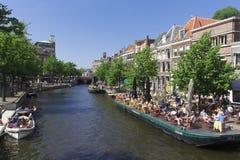 Leiden restaurants stock photography