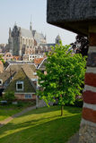 Leiden seen from fortified building royalty free stock photography