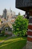 Leiden som ses från stärkt byggnad Royaltyfri Fotografi