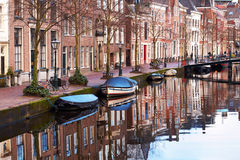Leiden stad, Nederländerna Arkivbilder