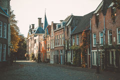 Leiden street Netherlands royalty free stock photos