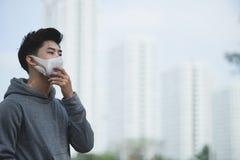 Leiden unter Smog lizenzfreies stockbild