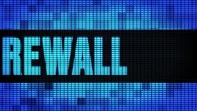 LEIDEN van firewallfront text scrolling Muurcomité de Raad van het Vertoningsteken vector illustratie
