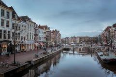 Leiden w deszczu zdjęcia stock