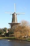 leiden windmill Royaltyfria Bilder