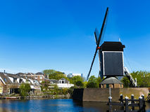 Leiden windmill royalty free stock image