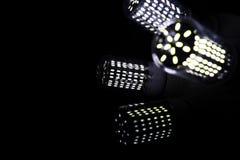 LEIDENE elementen in de lamp Lampen met dioden Vele verstralers royalty-vrije stock afbeelding