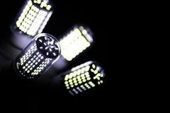 LEIDENE elementen in de lamp Lampen met dioden Vele verstralers royalty-vrije stock afbeeldingen