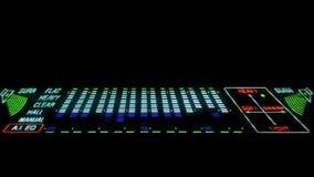 LEIDENE Equaliser - geleide discolichten stock videobeelden