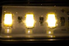 LEIDENE lamp usb drie elektronische dioden royalty-vrije stock fotografie