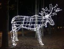 LEIDENE lichten in de vorm van een eland Stock Afbeelding