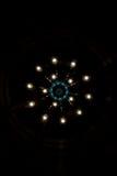 LEIDENE Lichten in Kroonluchter Stock Afbeelding