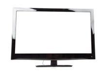 LEIDENE van het plasma TV die op een witte achtergrond wordt geïsoleerd stock afbeelding