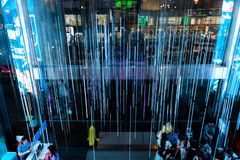 LEIDENE verlichting Siam Bangkok Thailand stock fotografie