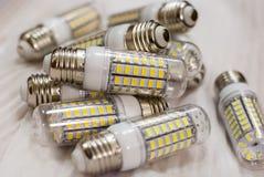 LEIDENE verlichtingslampen Royalty-vrije Stock Foto