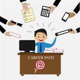 Leidenschaft für hart arbeitend des Personalwesenkonzeptes lizenzfreie abbildung