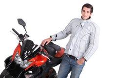 Leidenschaftlich über Motorräder Stockfoto