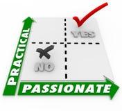Leidenschaftlich gegen praktische auserlesene Matrix-beste Wahl lizenzfreie abbildung