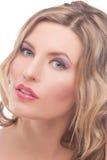 Leidenschaftliche blonde Frau mit heller Verfassung Lizenzfreie Stockbilder