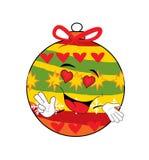 Leidenschaftliche Weihnachtsbaum-Spielzeugkarikatur Lizenzfreies Stockfoto