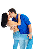 Leidenschaftlicher Kuss Stockfoto
