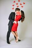 Leidenschaftlicher Kuss lizenzfreie stockbilder