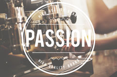 Leidenschafts-Interessen-Hobby-Inspiration mögen Liebes-Konzept Lizenzfreies Stockfoto