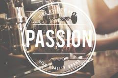 Leidenschafts-Interessen-Hobby-Inspiration mögen Liebes-Konzept Stockfoto