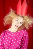Leidenschaftsfrau in der roten Krone Stockfotos
