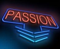 Leidenschaftsneonkonzept Stockfoto