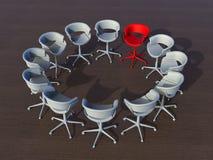 Leider binnen een groeps 3D concept royalty-vrije stock afbeeldingen