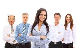 Leider en haar team Stock Foto