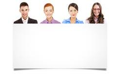 Leider en team, Jonge aantrekkelijke bedrijfsmensen Stock Afbeeldingen