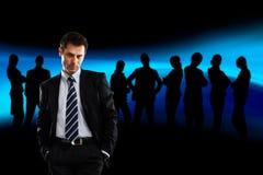 Leider en zijn team Stock Foto