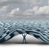 Leider Solution Business Concept Royalty-vrije Stock Foto