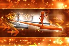 Leider van de concurrentie Concept 3d illustratie van het bedrijfs de Concurrentieconcept Stock Afbeelding