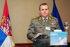 Leider van SAF, Algemeen Miloje Miletic Royalty-vrije Stock Afbeelding